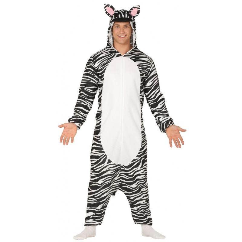 b7baf53561 Disfraz de Cebra Pijama con Capucha para Adulto