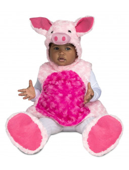 Disfraz de Cerdo de Peluche para Bebé