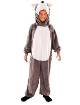 Disfraz de Lobo Gris de Peluche Infantil