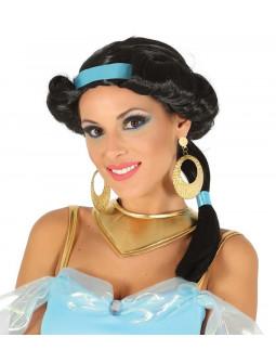Peluca de Princesa Jasmín Morena