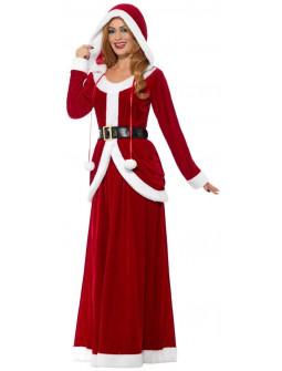 Disfraz de Mamá Noel Premium con Falda Larga