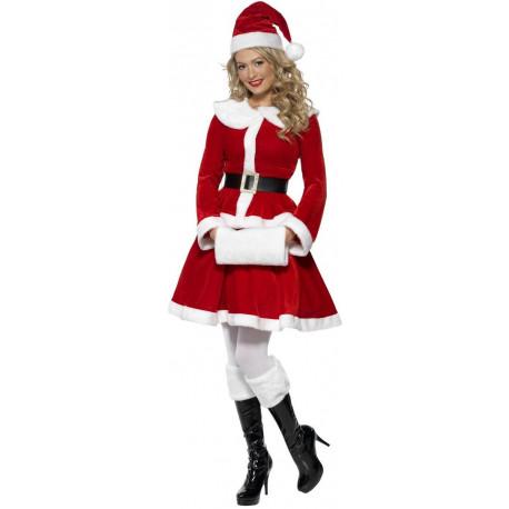 Disfraz de Mamá Noel con Manguito para Mujer