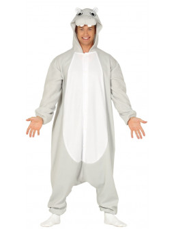 Disfraz de Hipopótamo Pijama para Adulto