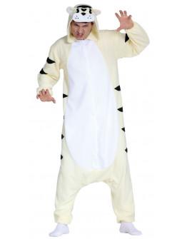 Disfraz de Tigre Blanco Pijama para Adulto