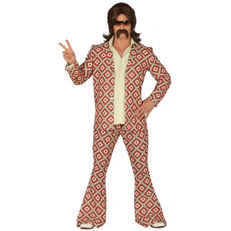 Disfraz de Disco Años 70 con Rombos para Hombre