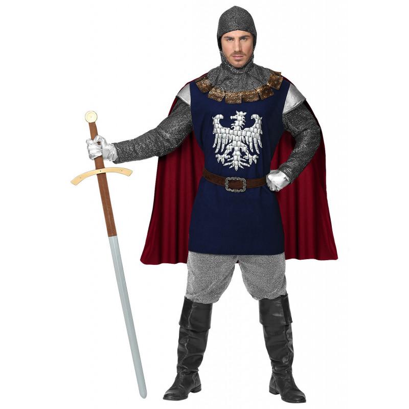 5fdf5b60f7ee Disfraz de Caballero Medieval Azul para Hombre   Comprar