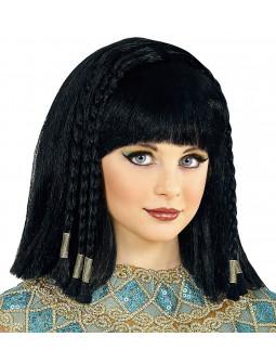 Peluca de Faraona Egipcia Morena Infantil