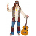 Disfraz de Hippie Años 60 con Chaleco para Hombre