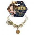 Collar Steampunk con Engranajes y Reloj