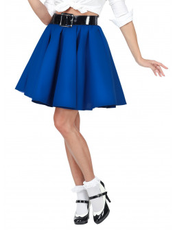 Falda Grease Azul Estilo Pin Up