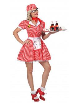 Disfraz de Camarera Pin Up Años 50 para Mujer
