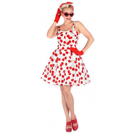 Disfraz de Chica Pin Up Años 50 Cerezas para Mujer
