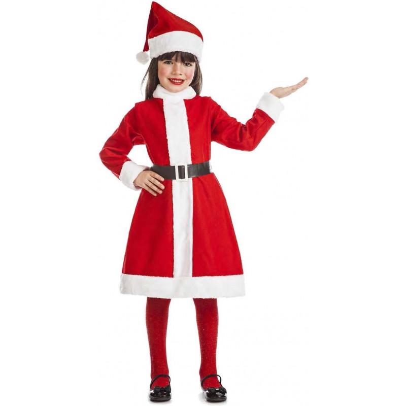 6bd9efc35 Disfraz de Mamá Noel Simpática para Niña