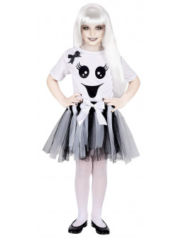 Disfraz de Fantasma Divertido con Tutú para Niña