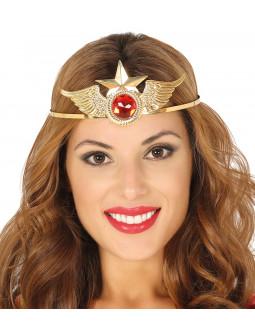 Tiara de Wonder Lady Metálica Dorada