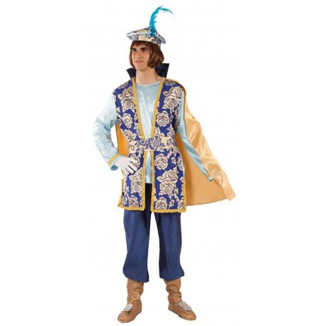 Disfraz de Paje Azul para Adulto