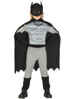 Disfraz de Hombre Murciélago Musculoso para Niño
