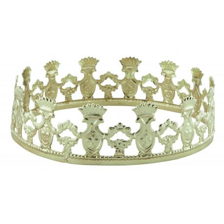 Corona de Rey Dorada de Metal