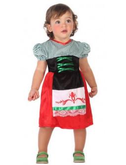 Disfraz de Tirolesa Roja y Verde para Bebé