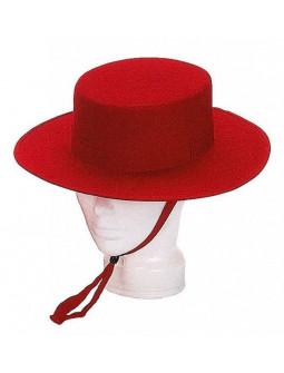 Sombrero Cordobés Rojo Premium para Adulto