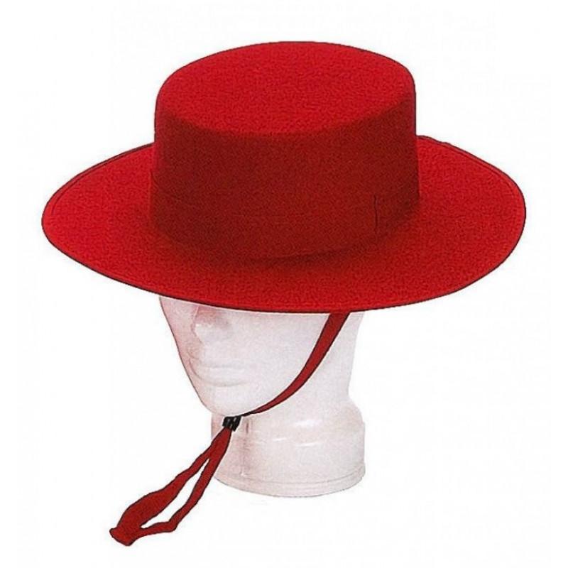 Sombrero Cordobés Rojo Premium para Adulto  695c607a01a