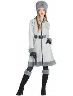 Disfraz de Espía Rusa Gris para Mujer