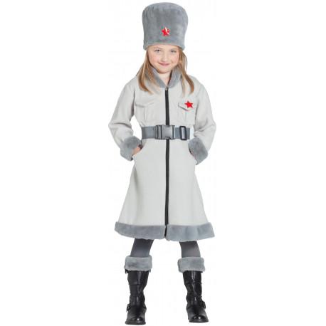 Disfraz de Espía Rusa Gris para Niña