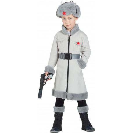 Disfraz de Espía Ruso Gris para Niño