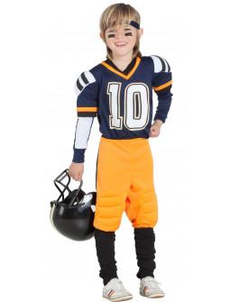 Disfraz de Jugador de Rugby Azul Infantil