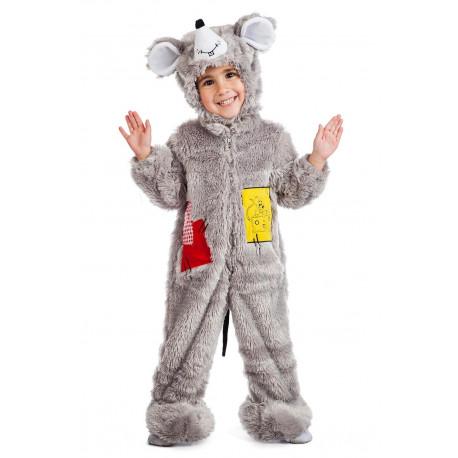Disfraz de Ratón Gris de Peluche para Bebé