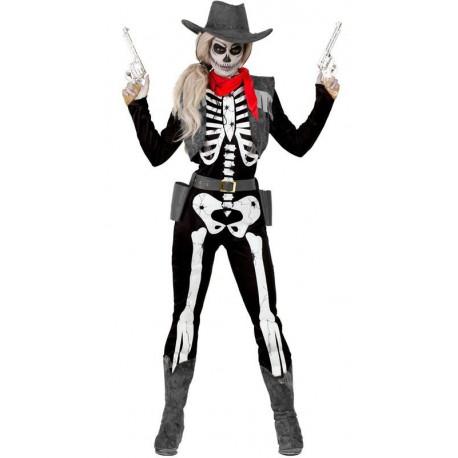 Disfraz de Vaquera Esqueleto para Mujer