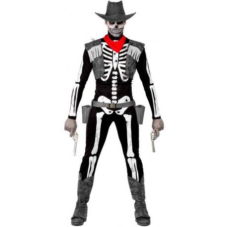 Disfraz de Vaquero Esqueleto para Hombre