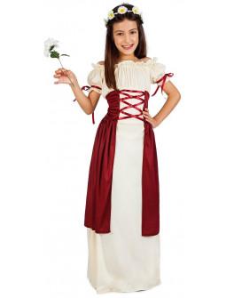 Disfraz de Doncella Medieval para Niña
