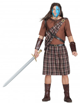 Disfraz de Escocés William Wallace para Hombre