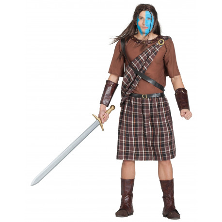 Disfraz de Escocés William Wallace para Hombre