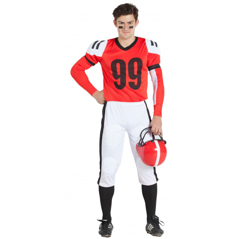 Disfraz de Jugador de Fútbol Americano Rojo para Hombre 0e16f6d2a52