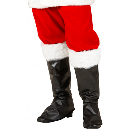 Cubrebotas Negros de Papá Noel