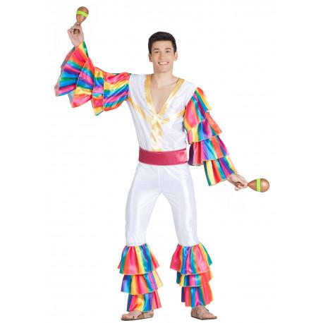Disfraz de Rumbero Blanco para Hombre