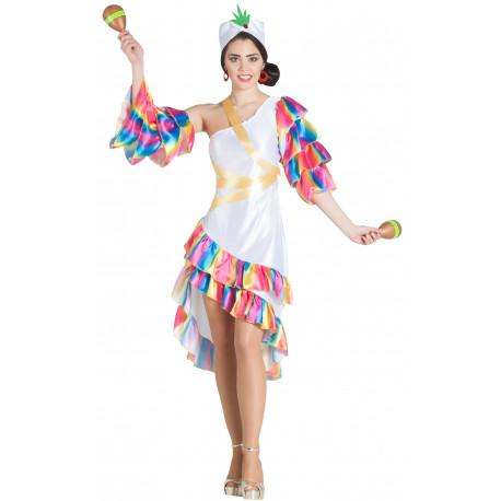 Disfraz de Rumbera Blanca para Mujer