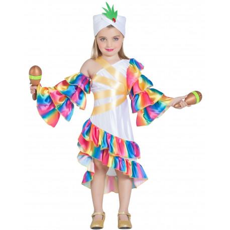 Disfraz de Rumbera Blanca para Niña