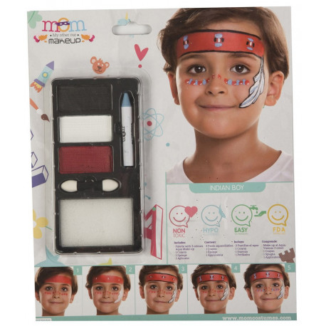 Kit de Maquillaje de Indio Infantil