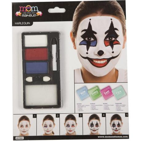 Kit de Maquillaje de Arlequín para Adulto
