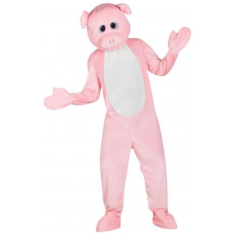 Disfraz de Cerdo Cabeza Gigante para Adulto