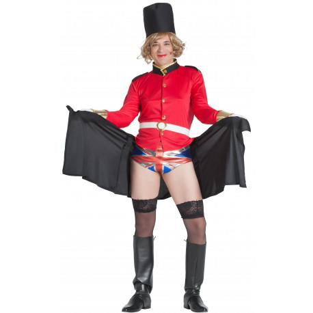 Disfraz de Guardia Inglés Travesti para Hombre