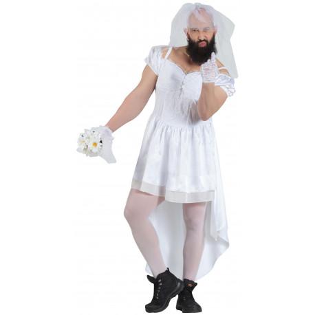 Disfraz de Novia Travesti para Hombre
