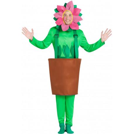 Disfraz de Maceta con Flor para Adulto