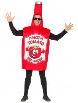 Disfraz de Bote de Ketchup Picante para Adulto