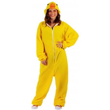 Disfraz de Pato Amarillo Pijama para Adulto
