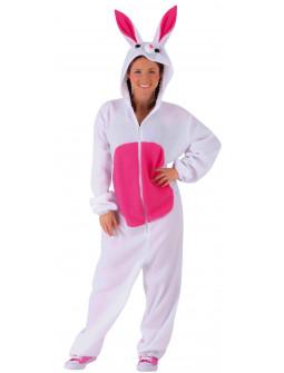 Disfraz de Conejo Rosa y Blanco para Adulto