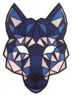 Máscara de Lobo con Luz Led y Activación por Sonido